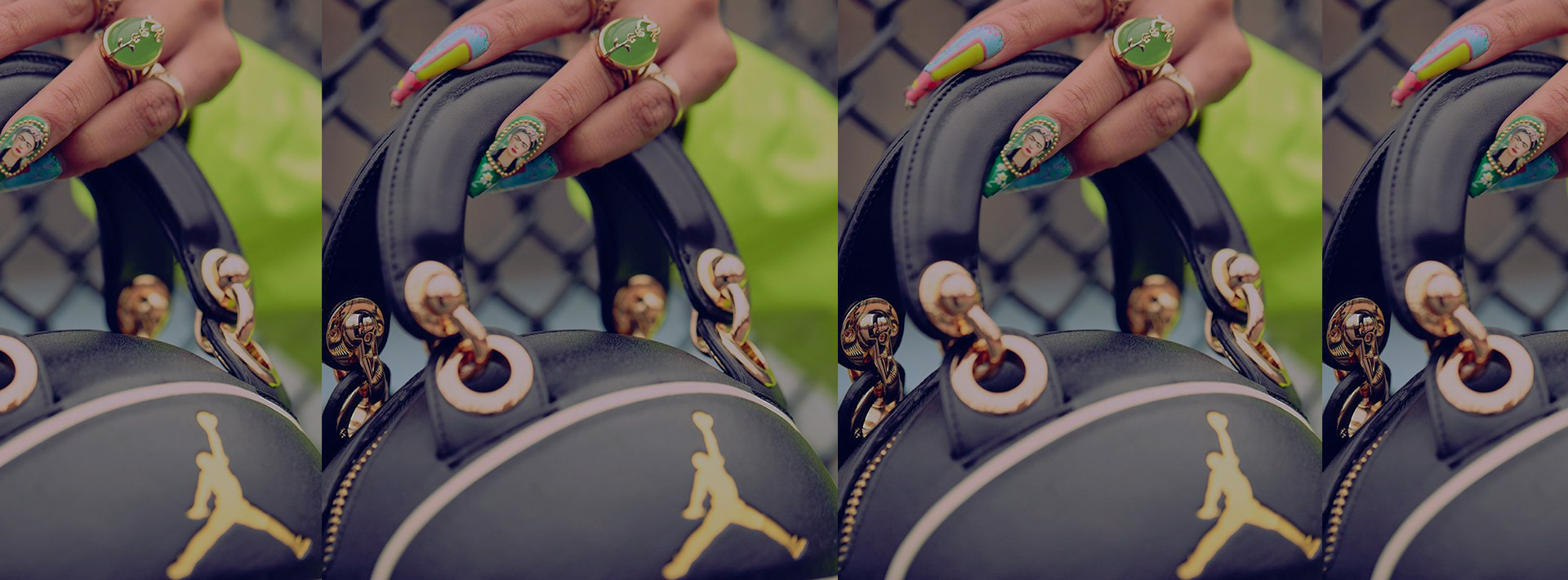 Andrea Bergart does it again with the handmade AJ's basketball bag homage in premium leather.